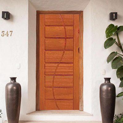 Porta De Madeira Almofada Modelo Psm 1405 Porta De Casa Em Bh